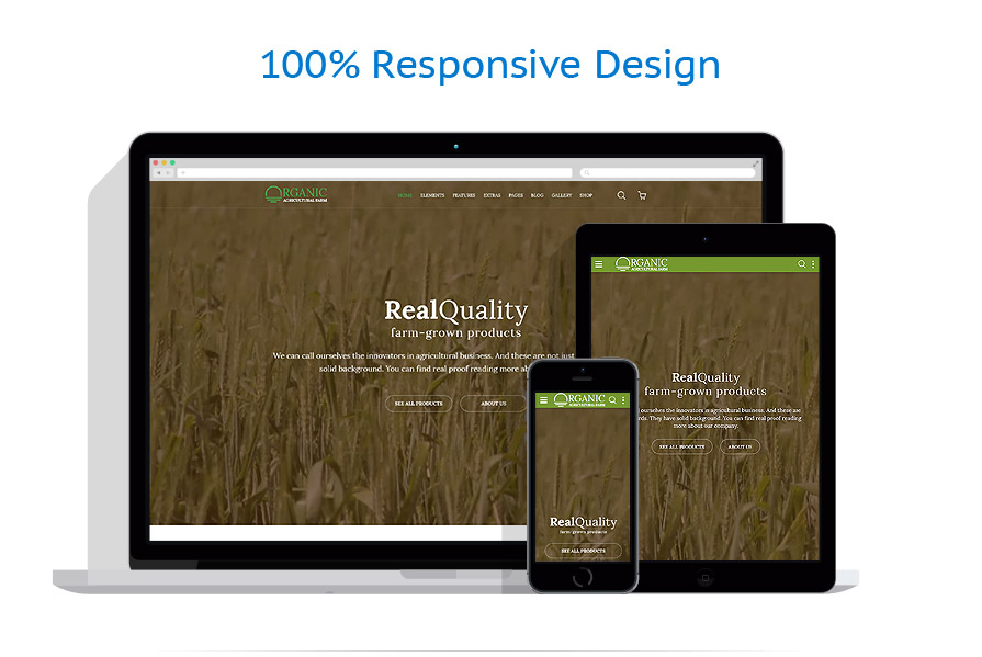 responsive template | Agriculture | ID: 2628