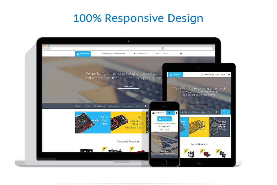 responsive template | Computers | ID: 2635