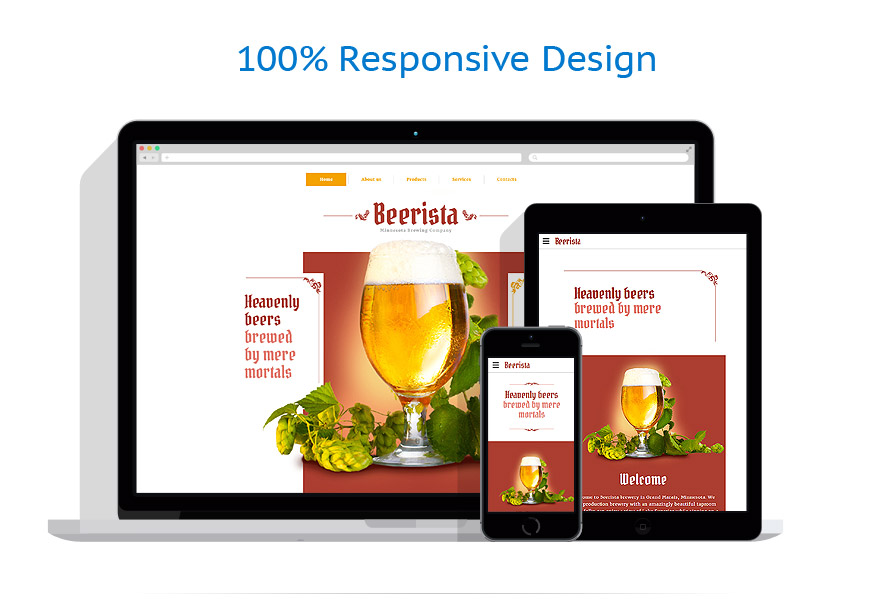 responsive template | Brewery Templates | ID: 2645