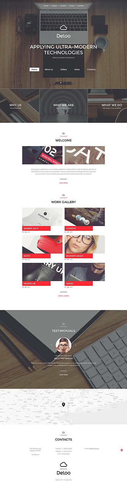 Sablon de   Web design   ID: 2660
