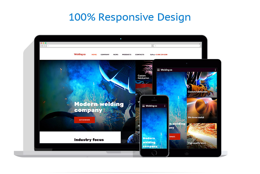 responsive template | Industrial | ID: 2665