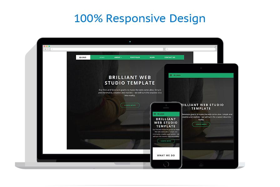 Sablon responsive de   Web design   ID: 2678