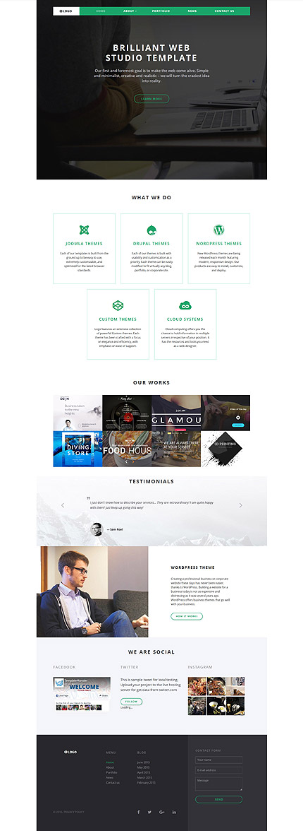 Sablon de   Web design   ID: 2678
