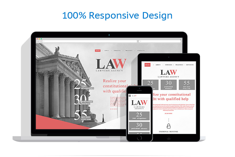 responsive template | Law | ID: 2695