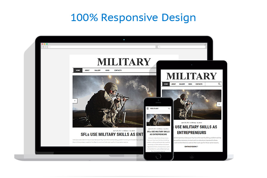 Responsive website templates | Military