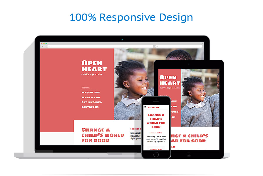 Responsive website templates | Charity