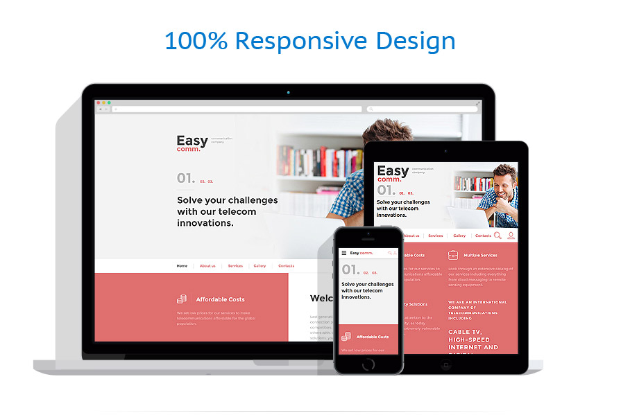 responsive template | Communications | ID: 2714