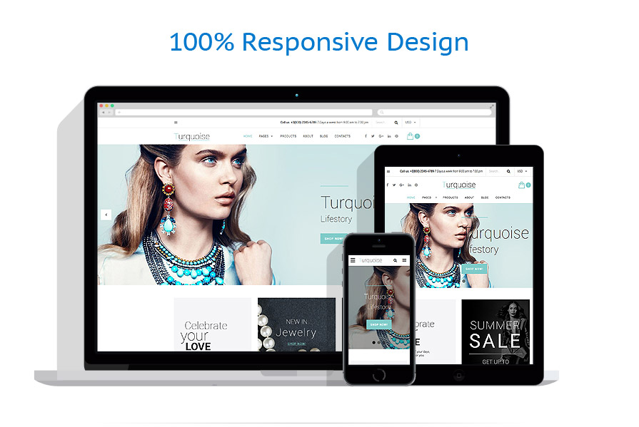 Responsive website templates | Jewelry