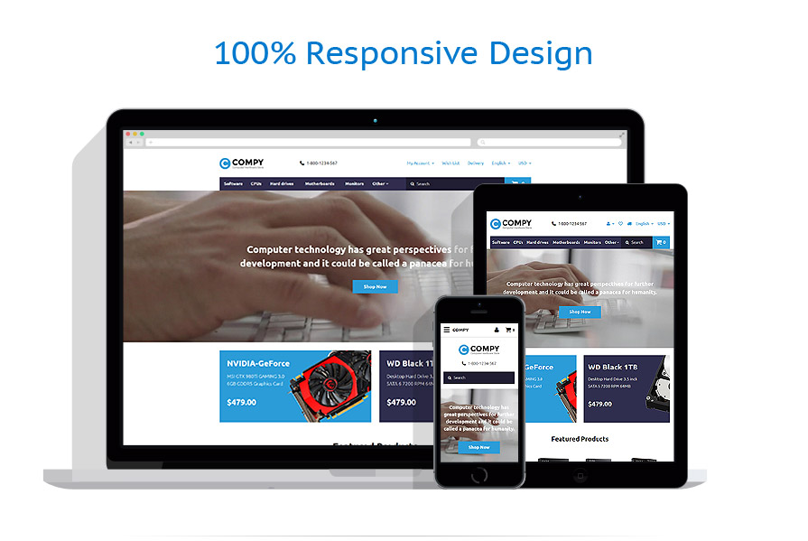 responsive template | Computers | ID: 2734