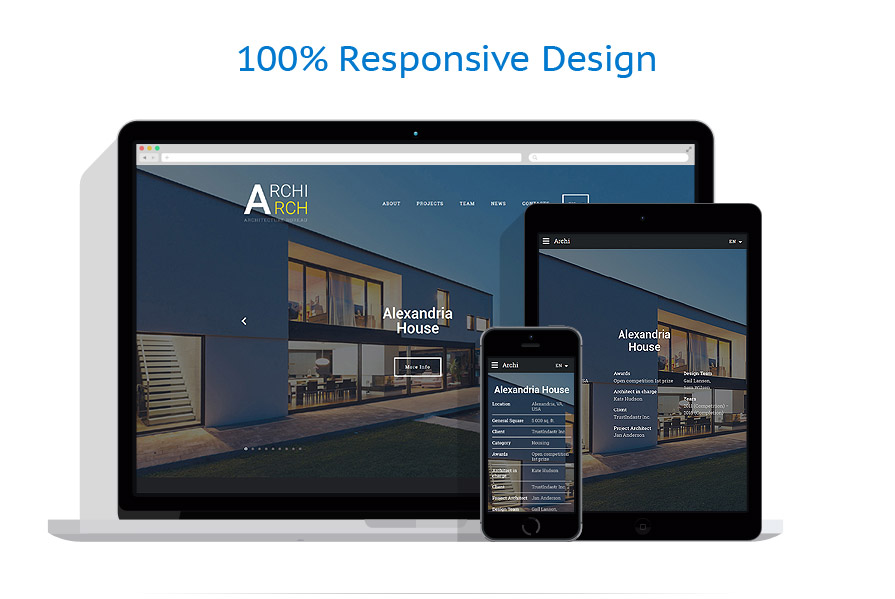 Sablon responsive de | Arhitectura | ID: 2762