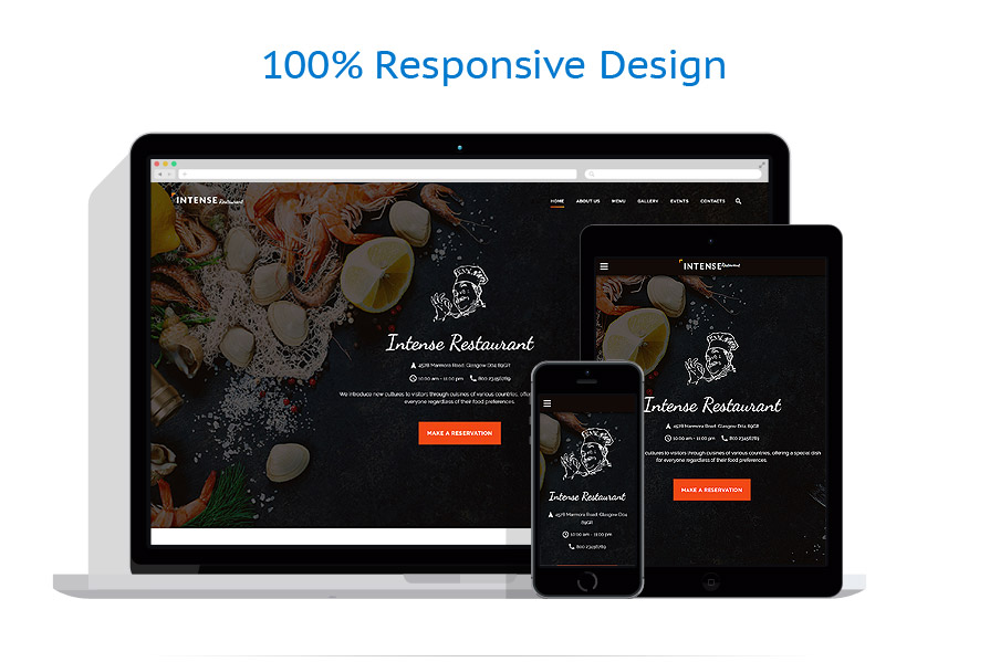 Sablon responsive de | Cafenele & Restaurante | ID: 2784
