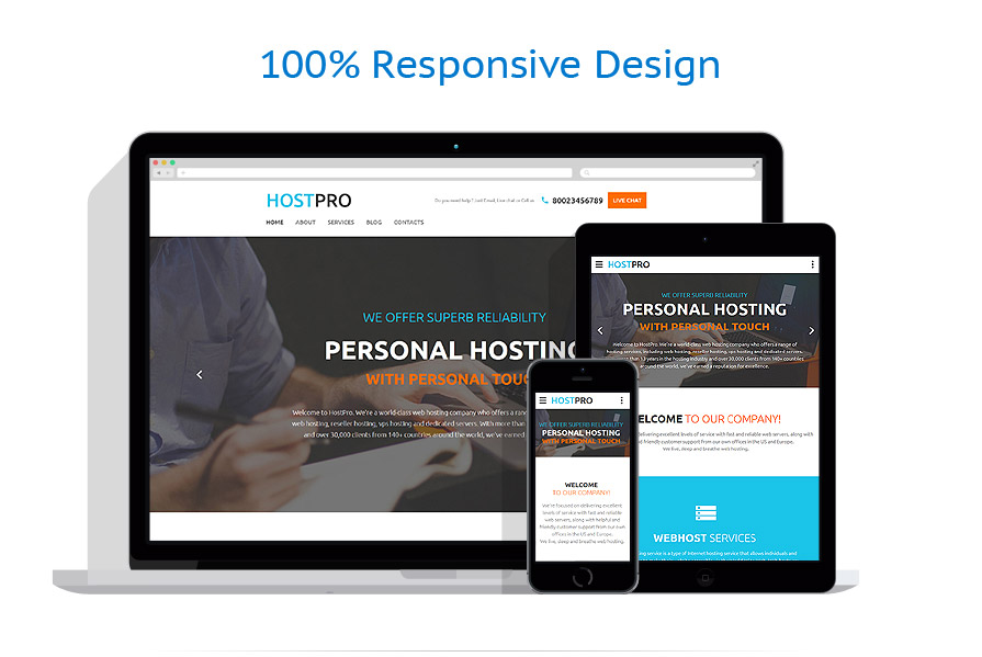 responsive template | Hosting