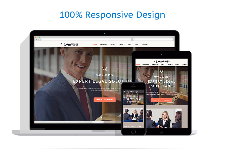 responsive template | Law | ID: 2800
