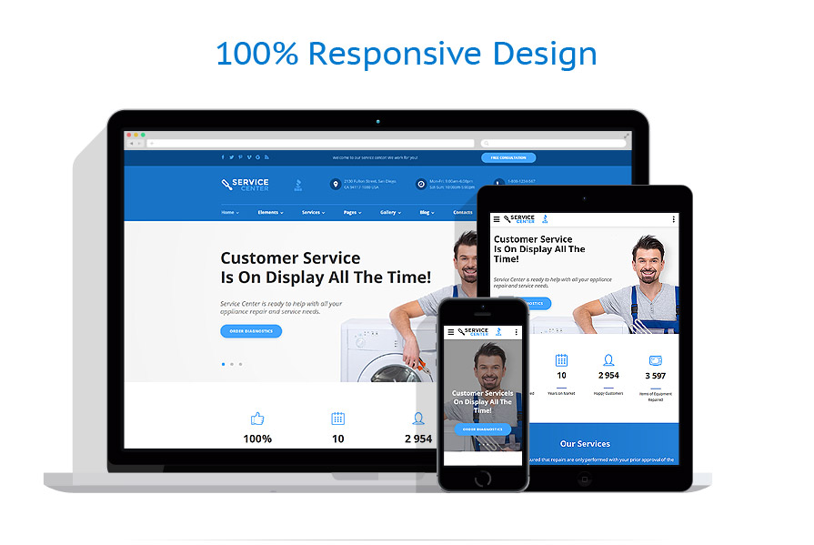 responsive template | Maintenance Services | ID: 2803