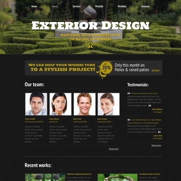 template | Exterior design