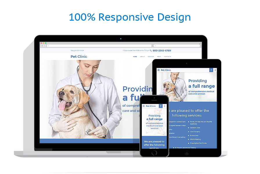 Sabloane responsive de website | Animale | ID: 3003