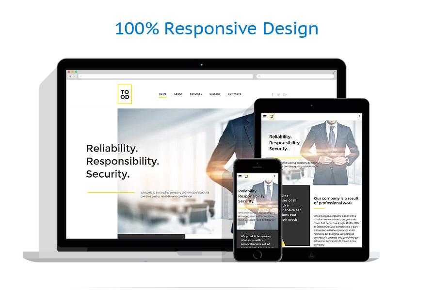 Sablon responsive de | Business | ID: 3008