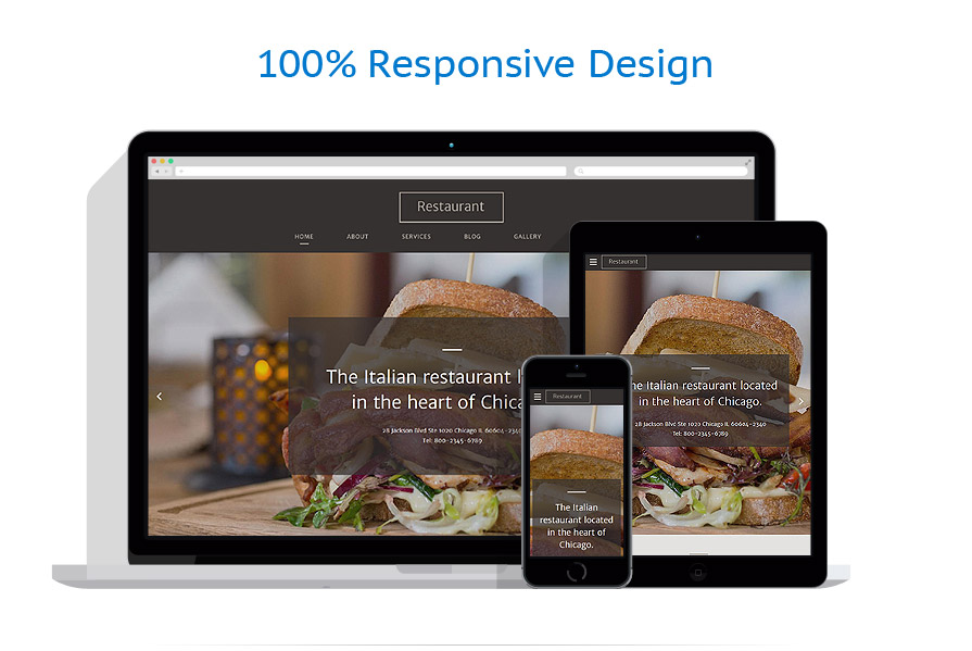 Sablon responsive de | Cafenele & Restaurante | ID: 3026