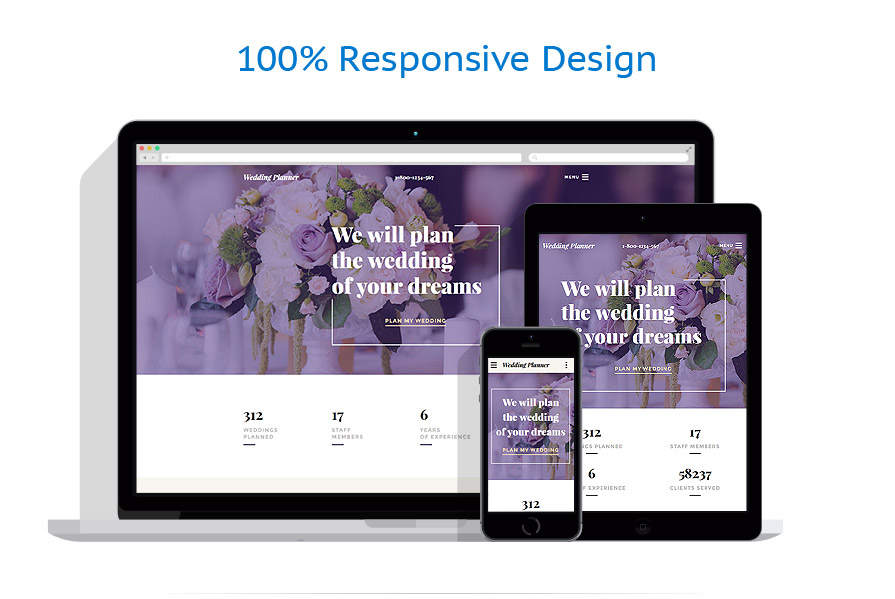 responsive template | Wedding | ID: 3035
