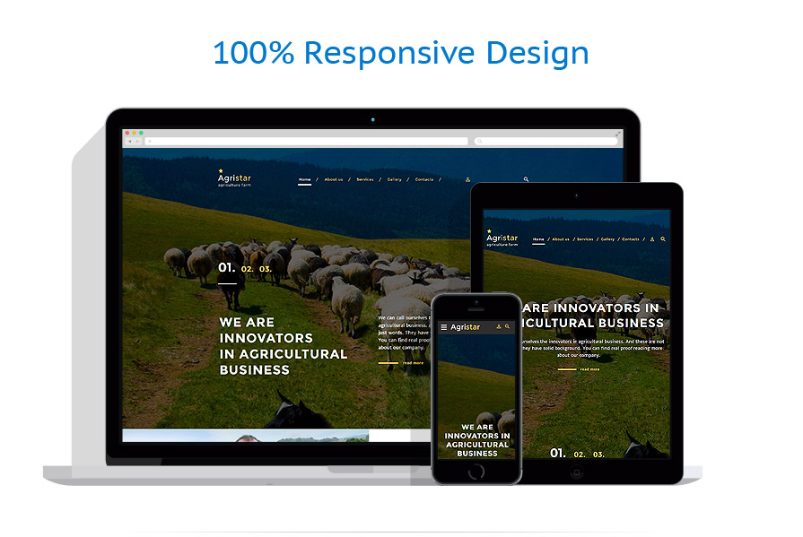 responsive template | Agriculture | ID: 3038