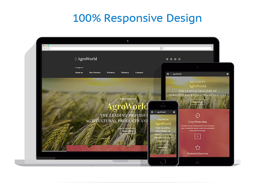responsive template | Agriculture | ID: 3042