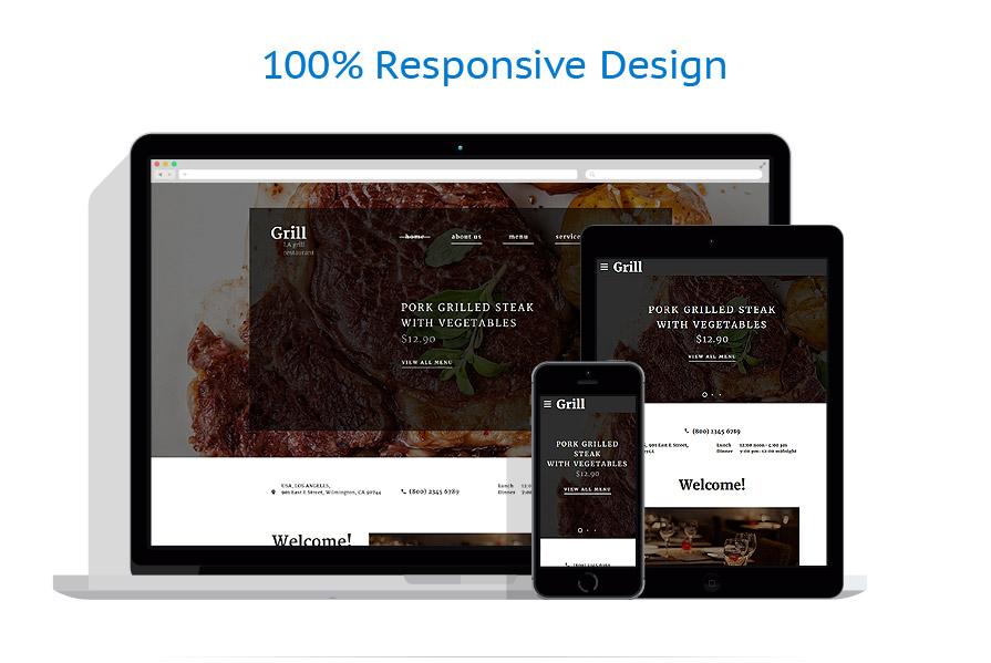 Sablon responsive de | Cafenele & Restaurante | ID: 3045