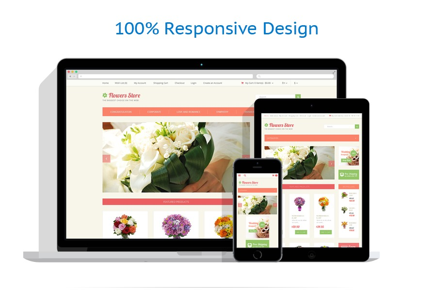 responsive template | Flowers