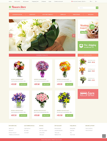 template | Flowers