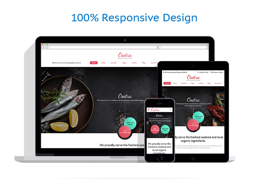 Sablon responsive de | Cafenele & Restaurante | ID: 3054