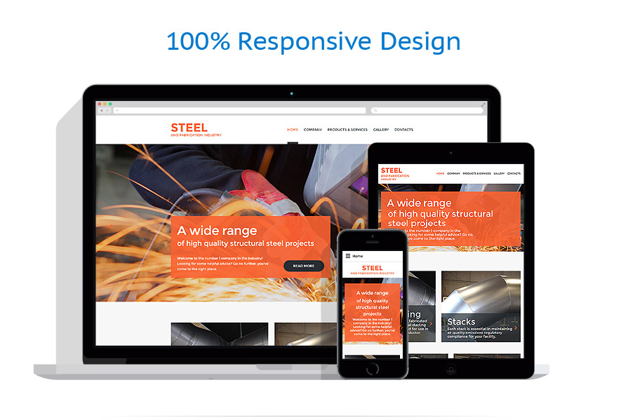 responsive template | Industrial | ID: 3073