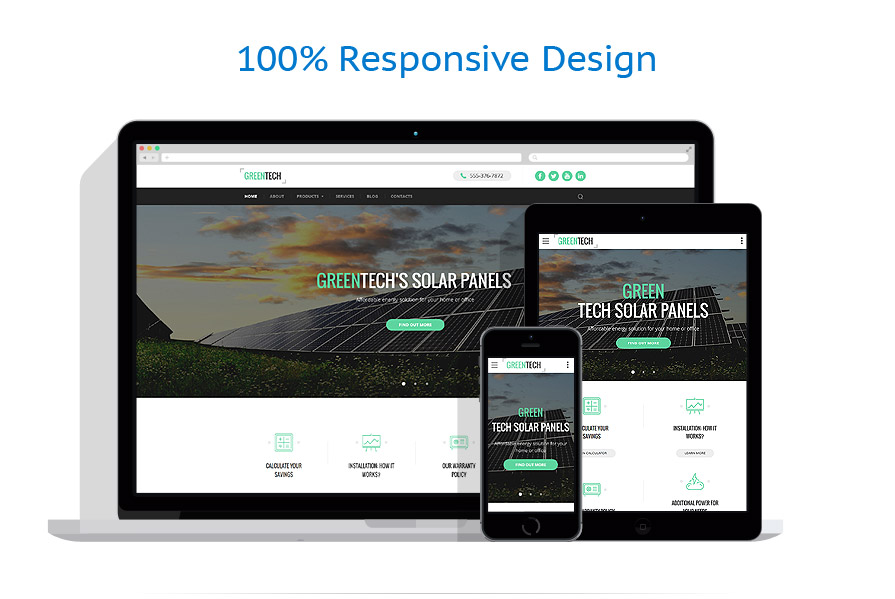 Sabloane responsive de website | Energie Alternativa