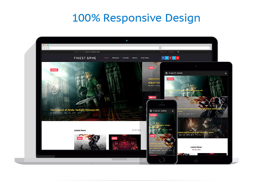 responsive template | Games