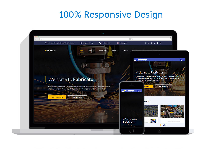 responsive template   Industrial   ID: 3136