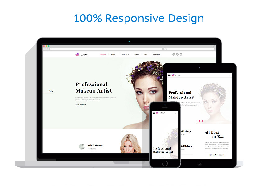 responsive template | Beauty | ID: 3165