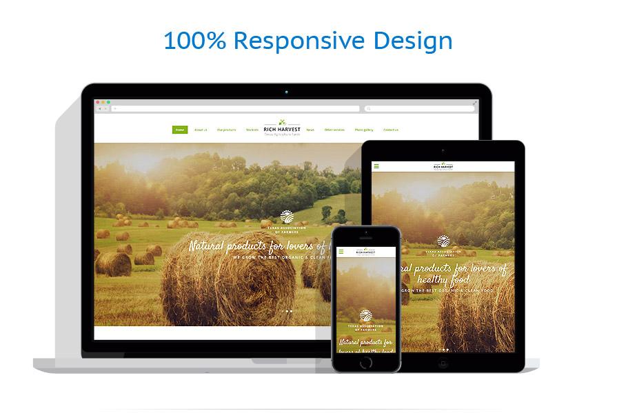 Sablon responsive de | Agricultura | ID: 3171