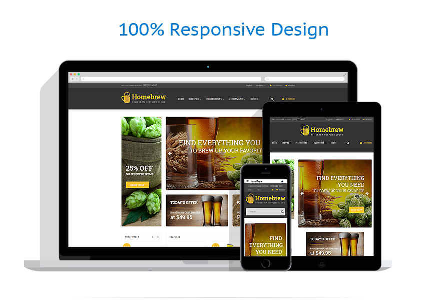 responsive template | Brewery Templates
