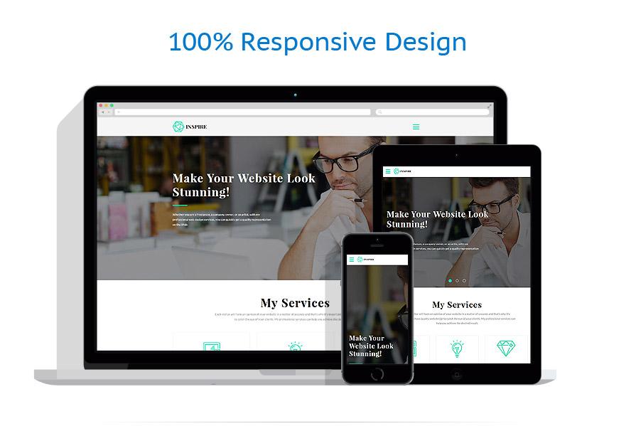 responsive template | Web design | ID: 3200
