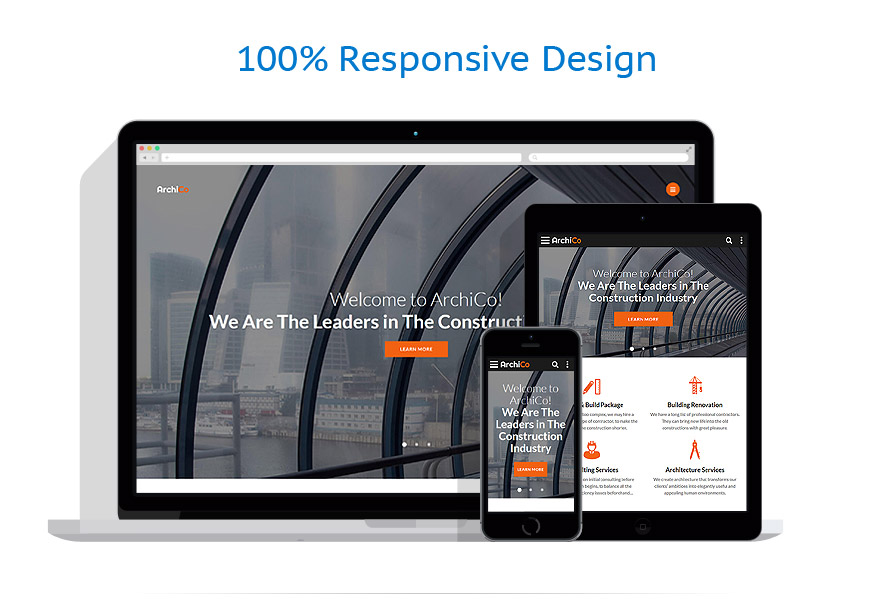 Responsive website templates | Architecture