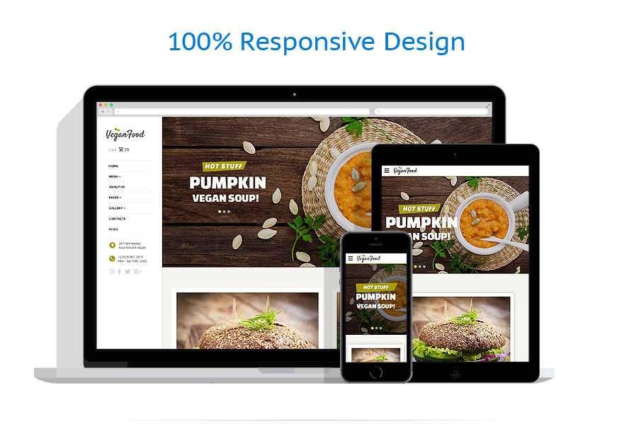 responsive template   Cafe and Restaurant   ID: 3212