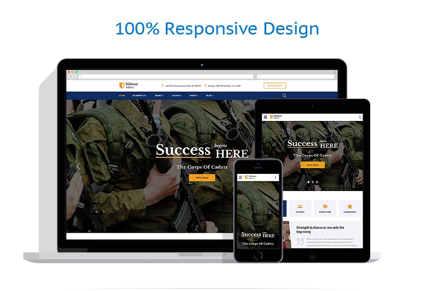 responsive template | Military | ID: 3228