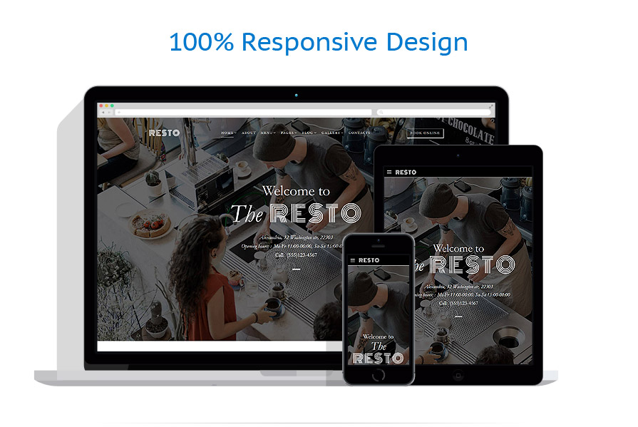 responsive template | Cafe and Restaurant