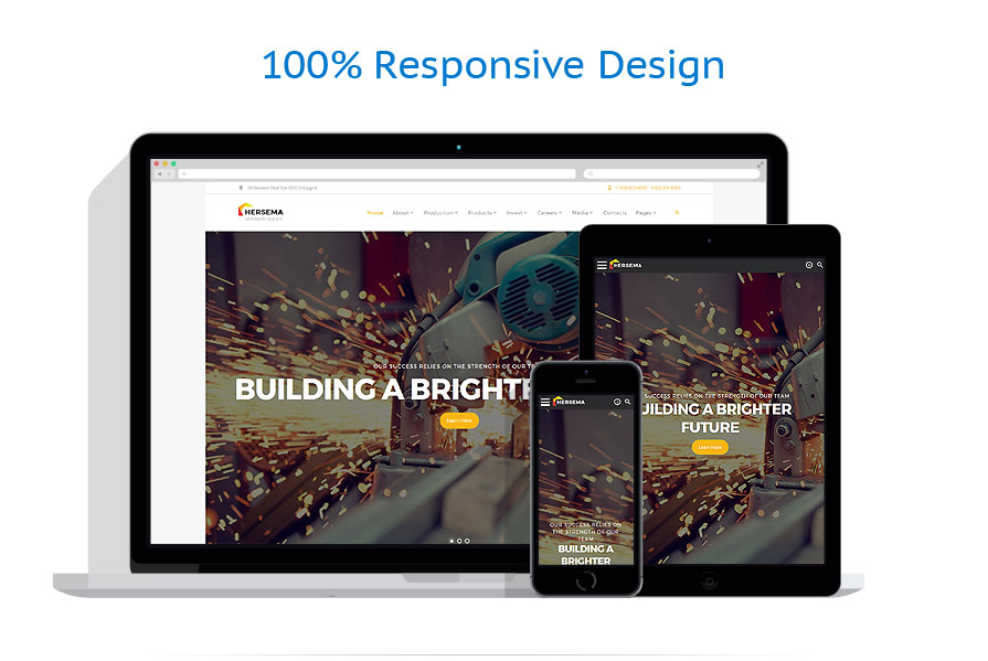 responsive template | Industrial | ID: 3243