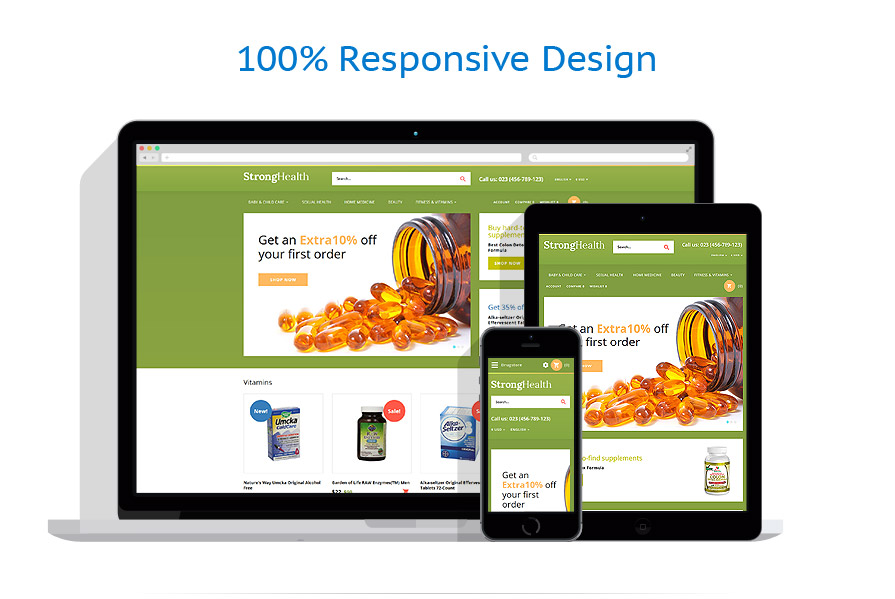 Responsive online store templates | Medical