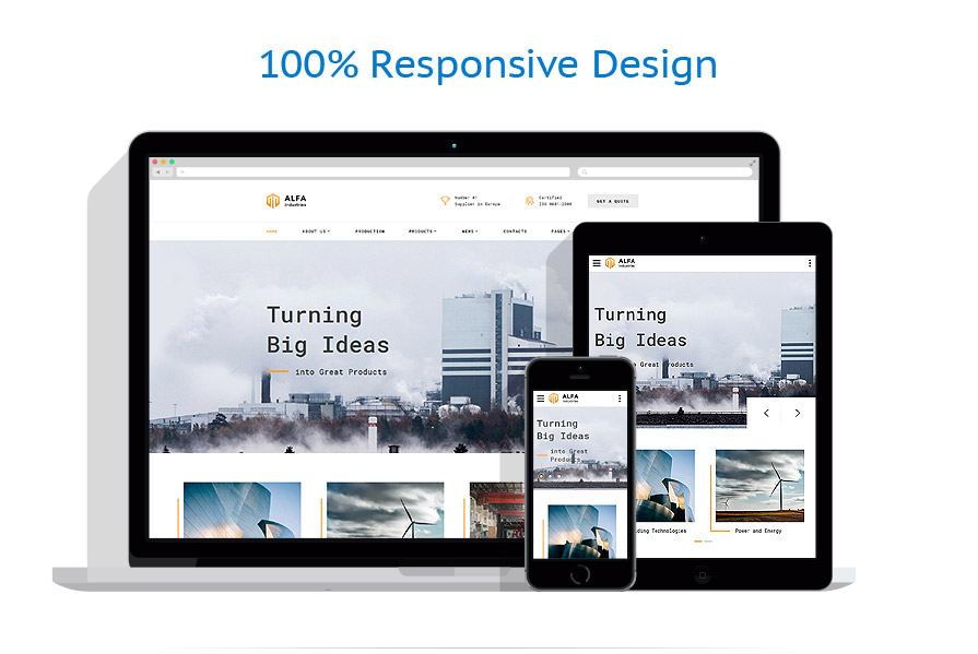 responsive template | Industrial