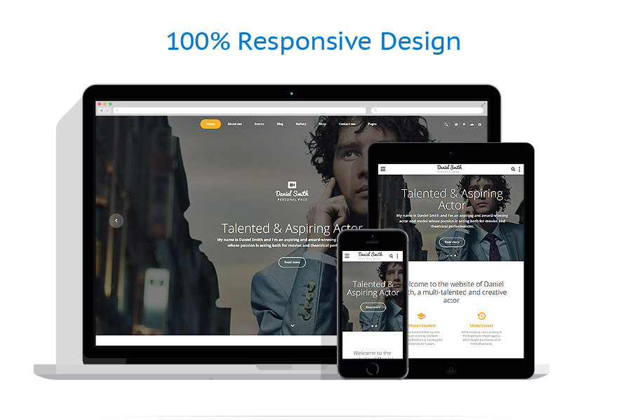 responsive template   Personal pages   ID: 3327