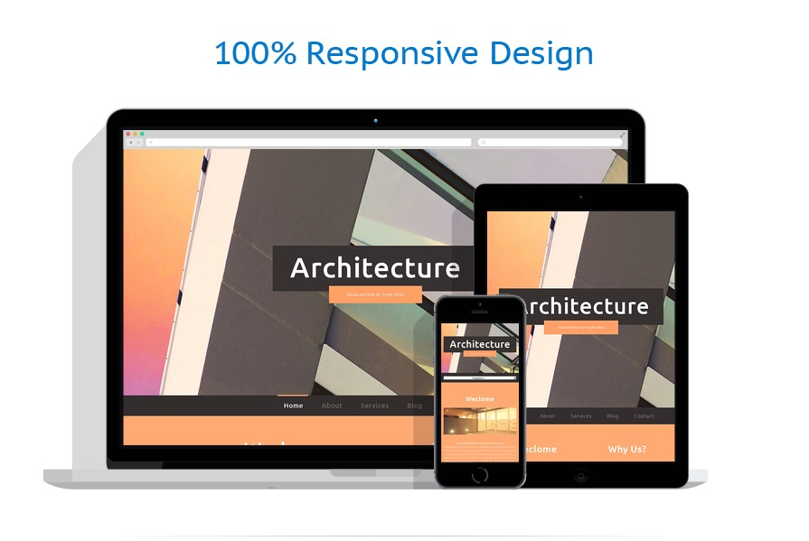 Sablon responsive de | Arhitectura | ID: 375
