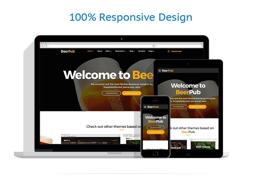responsive template | Brewery Templates | ID: 4327