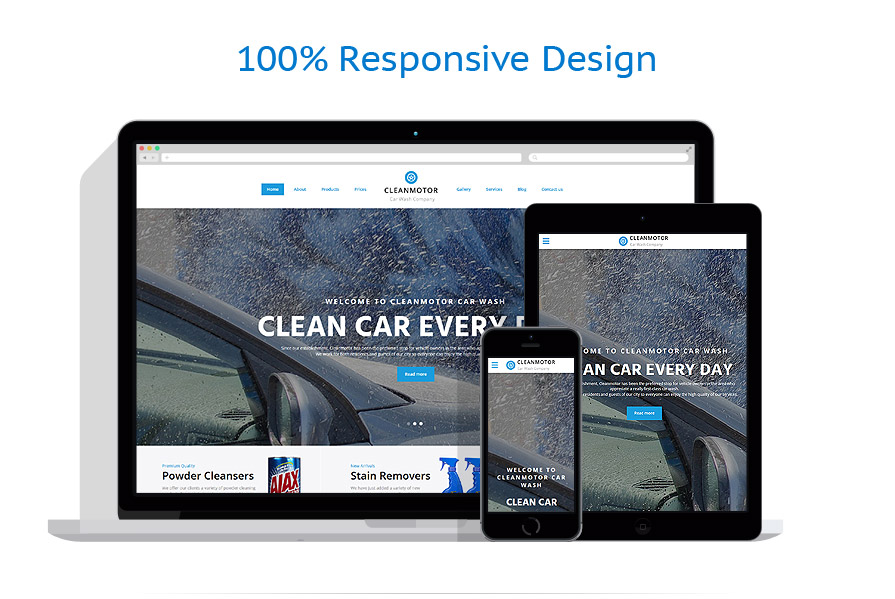 Responsive website templates | Cars