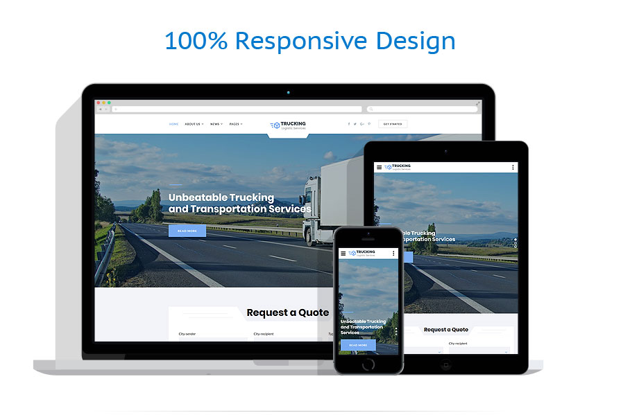 responsive template | Transportation | ID: 4347