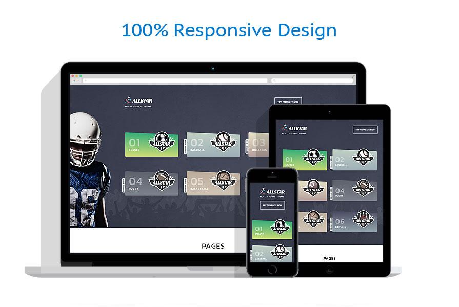 responsive template | Sport | ID: 4555